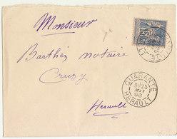 Hérault  15c Sage O. Cad T84 Dateur Mixte Quarante 1896  /ESC - Marcofilie (Brieven)