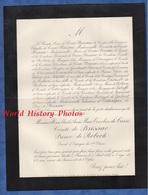 Document De 1887 - PARAMé - Henri Charles Anne Marie Timoléon De COSSé Comte De BRISSAC Prince De ROBECH - Historical Documents