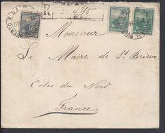 ARGENTINE - 1902 - Affr. à 27 Centavos Sur Enveloppe Recommandée D'Argentine Vers Saint Brieuc (Fr) B/TB - - Argentina