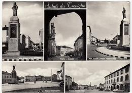 SALUTI DA TREVIGLIO - BERGAMO - 1957 - VEDUTE - Bergamo