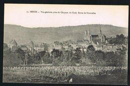CP 21 - Semur Vue Générale Prise Du Château Du Curé, Route De Courcelles - Semur