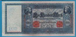 DEUTSCHES REICH 100 MARK 21.04.1910 Serial# G.0960214  P# 42 White Paper Flottenhunderter - [ 2] 1871-1918 : German Empire