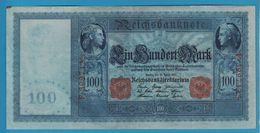 DEUTSCHES REICH 100 MARK 21.04.1910 Serial# F.3997125 P# 42 Blueisch Paper Flottenhunderter - [ 2] 1871-1918 : German Empire