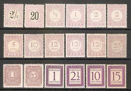 001627 Surinam Postage Due Lot MNH + MH - Surinam ... - 1975
