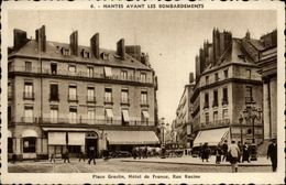 44 - NANTES - Nantes Avant Les Bombardements - Place Du Graslin - Rue Racine - Nantes