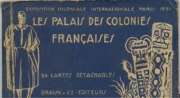 PARIS - EXPOSITION COLONIALE 1931 - LES PALAIS DES COLONIES FRANÇAISES - Album 24 CARTES POSTALES - Exhibitions