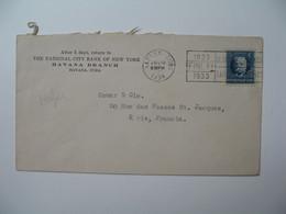 Lettre Perforé   Perfin   NCB     The National City Of New York    Havana Cuba   1934 - Cuba