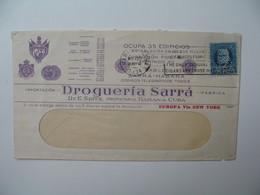 Lettre Perforé   Perfin   SA RRA  Cable Sarra - Habana  Drogueria Sarra    Havana Cuba   1934 - Cuba