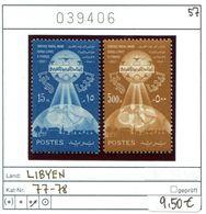 Libyen - Libyia - Libia - Libye - Michel 77-78 - ** Mnh Neuf Postfris - Libia