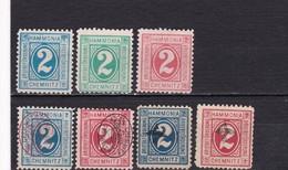 Deutsches Reich Privatpost Chemnitz Mi.-Nr. 7-9, 10,12, 19, 21 (ohne Gummi) - Private