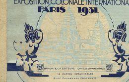 PARIS - EXPOSITION COLONIALE INTERNATIONALE 1931 - Bloc Promenade Couleur - Album De 12 CARTES POSTALES - Mostre