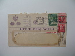 Lettre Perforé    Perfin   SA RRA  Cable Sarra - Habana  Drogueria Sarra    Havana Cuba  1936  Solo Son Habanos Legitimo - Cuba