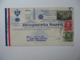 Lettre Perforé    Perfin   SA RRA  Cable Sarra - Habana  Drogueria Sarra    Havana Cuba  1936 - Cuba