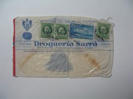 Lettre Perforé    Perfin   SA RRA  Cable Sarra - Habana  Drogueria Sarra    Havana Cuba  1938 - Cuba