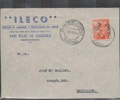 3268  Frontal De Carta San Feliu De Guixols 1954 , Gerona , Girona - 1931-Aujourd'hui: II. République - ....Juan Carlos I