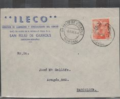 3268  Frontal De Carta San Feliu De Guixols 1954 , Gerona , Girona - 1951-60 Cartas