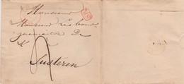 LAC De TONGRES Tongeren 1838 Vers Susteren (Belgique) Cachet D'arrivée Probable Maaseick (avant Scission Du Limbourg !) - 1830-1849 (Belgique Indépendante)