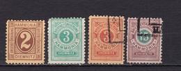 Deutsches Reich Privatpost Chemnitz Mi.-Nr. 28, 30, 33, 35 ( Ohne Gummi) Zähnung Siehe Bilder - Private