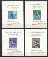 SPAIN 1961 - CENTENARIO MUERTE DE VELAZQUEZ Ed 1344-47 NEUF ** MNH - 1961-70 Ongebruikt