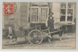 50 Manche - Percy Un Remouleur Du Pays Env De Villedieu Attelage De Chien Cachet Lisieux 1910 Normandie - Villedieu