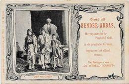 CPA Iran Perse Types Publicité Circulé En 1903 - Iran