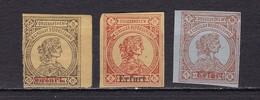 Deutsches Reich Privatpost Erfurt Mi.-Nr. 1-3 (ohne Gummi) - Privatpost