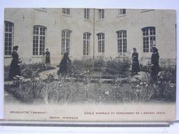 BELGIQUE - BRUGELETTE - ECOLE NORMALE ET PENSIONNAT DE L'ENFANT JESUS - JARDIN INTERIEUR - ANIMEE - 1908 - Brugelette