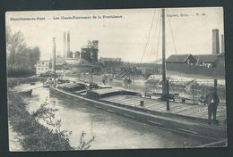 Marchienne-au-Pont.  Les Hauts- Fourneaux De La Providence. Péniche Et Batelier En Gros Plan. 2 Scans. - Charleroi