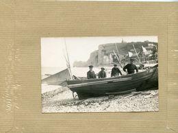 ETRETAT   CARTE PHOTO  Barque De Pêche F.482 - Etretat