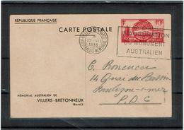 LINT 5  - EP CP VILLIER BRETONNEAUX 1f CIRCULE - Postal Stamped Stationery
