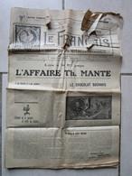 Journal Le FRANCAIS 1916 Affaire Théodore MANTE Marseille - Journaux - Quotidiens