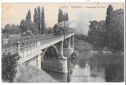 CHATOU - Perspective Du Pont (vue Avec Train Passant Sur Le Pont) - Chatou