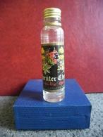 MIGNONNETTE Vide Alcool Blanc EAU DE VIE De Plantes Fleurs Alpestre 2cl SUISSE Distillerie Willisau - Miniatures