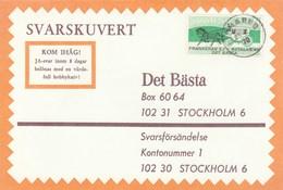 1970 Limmared SWEDEN COVER Svarslosen COIL Stamps HORSE CARRIAGE - Sweden