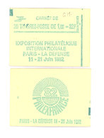 """CARNET 2155-C 4a Sabine De Gandon """"PHILEXFRANCE 82"""" Avec R.E. Fermé Parfait état TRES RARE - Carnets"""