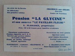 73   CHAMOUX  SUR  GELON  PENSION  LA GLYCINE ET SON ANNEXE  LE PAVILLON FLEURI  Telephone  No - Chamoux Sur Gelon