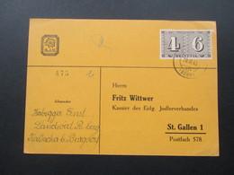 Schweiz 1943 Postkarte Des Eidg. Jodlerverbandes. Mit Wappen Des E.J.V. - Briefe U. Dokumente