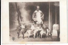 Numéro De CIRQUE - UN CLOWN Dresseur De 6  CHIENS     - Editeur C.J. MACON - Circo