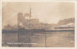Cp , 75 , PARIS INONDÉ , Pont De L'archevêché - Alluvioni Del 1910