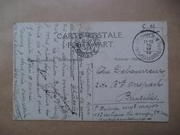 Leger Post Verstuurd Naar Bruxelles 1919   Belgische Bezetting   De KAGERA - Congo Belge - Autres