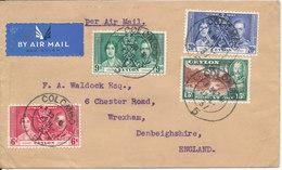 Ceylon Cover Sent Air Mail To England 27-7-1937 Good Franked - Ceylon (...-1947)