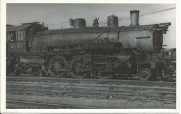 Fotopostkarte AURORA STATION - Engine # 2149 / Chicago, Burlington & Quincy Railraod 1964 - Eisenbahnen