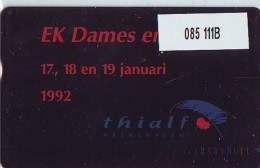 Telefoonkaart  LANDIS&GYR  NEDERLAND * RCZ.085  111B * Thialf 1992 * TK * ONGEBRUIKT * MINT - Private