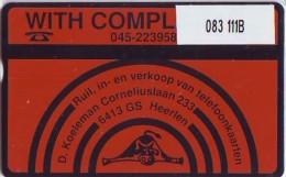 Telefoonkaart  LANDIS&GYR  NEDERLAND * RCZ.083  111B * Deniz Koeleman* TK * ONGEBRUIKT * MINT - Privé