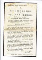 DP 3281  - JULIANA DEROO - POPERINGE 1869 + 1940 - Andachtsbilder