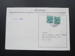 Schweiz 1943 Brief Der Nationalen Briefmarken Ausstellung Exposition Nationale De Philatelie. Aarau. Drucksache - Briefe U. Dokumente