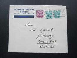 Schweiz 1938 Brief Grasshopper Club Zürich Handball Sektion. - Switzerland