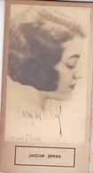 JANINE PRESS; MARCELLE FAURE. AUTOGRAPHE SIGNEE AUTHENTIQUE ORIGINAL.-BLEUP - Autografi