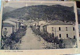 NICASTRO LAMEZIA TERME VIALE STAZIONE SCRITTA FASCISTA DUCE MUSSOLINI CAMMINARE COSTRUIRE COMBATTERE VINCERE V1941 GR839 - Lamezia Terme