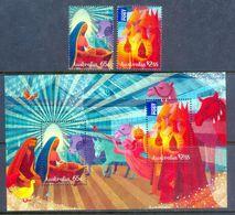 E52- Australia 2015 Christmas Minisheet & Stamps. - Australia